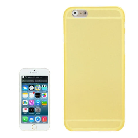Buy Online  0.3mm Ultra-thin Polycarbonate Material PC Protection Cover for iPhone 6, Transparent Version / Matte Edition(Yellow) Apple Cases - MEGA Discount Online Store Ghana