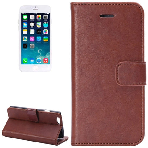Buy Online  Crazy Horse Texture Horizontal Flip Leather Cover with Card Slots and Holder for iPhone 6(Brown) Apple Cases - MEGA Discount Online Store Ghana