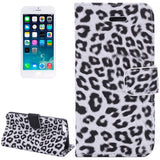 Buy Online  Leopard Print Pattern Horizontal Flip Leather Case with Card Slots and Holder for iPhone 6 & 6S(White) Apple Cases - MEGA Discount Online Store Ghana