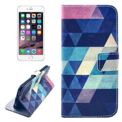 Buy Online  Dreamlike Rhombus Pattern Leather Case with Holder & Card Slots & Money Pocket for iPhone 6 & 6S Apple Cases - MEGA Discount Online Store Ghana