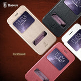 Buy Online  Baseus Ultra-thin Leather Case with Caller ID Display for iPhone 6 & 6S(White) Apple Cases - MEGA Discount Online Store Ghana