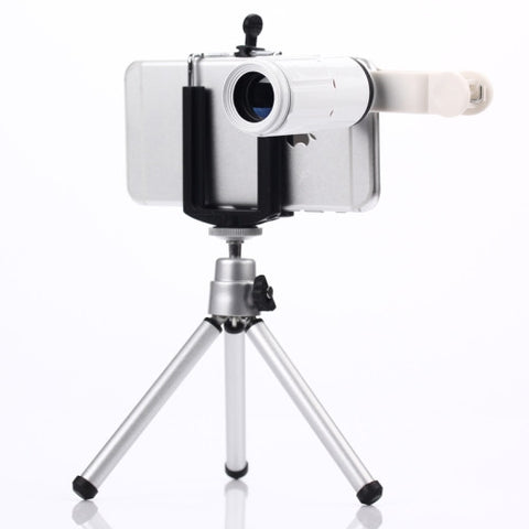 Buy Online  Universal 8x Zoom Telescope Telephoto Camera Lens Kit / Ultra-thin Digital Camera(White) Lens - MEGA Discount Online Store Ghana