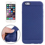 Buy Online  Litchi Texture with Holes Anti-slip TPU Protective Cover for iPhone 6(Dark Blue) Apple Cases - MEGA Discount Online Store Ghana