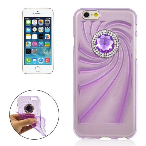 Buy Online  Fashionable Ultrathin Diamond Encrusted TPU Protective Case for iPhone 6 & 6S(Purple) Apple Cases - MEGA Discount Online Store Ghana