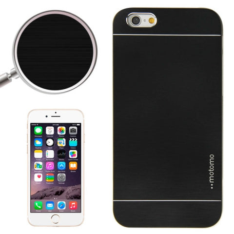 2 in 1 Brushed Texture Metal & Plastic Protective Cover for iPhone 6(Black) Apple Cases - MEGA Discount Online Store Ghana