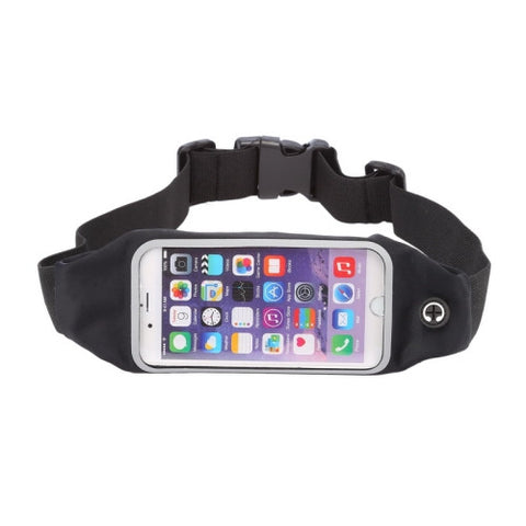 Buy Online  Waterproof Sports Waist Bag Pouch with Earphone Hole for iPhone 6 Plus & 6s Plus(Black) Universal Cases - MEGA Discount Online Store Ghana