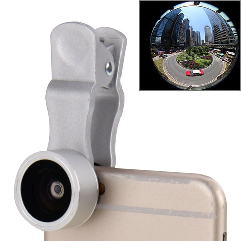 Buy Online  3 in 1 Universal 198 Degree Fisheye Lens + 15X Marco Lens + 0.63X Wide Lens with Clip Lens - MEGA Discount Online Store Ghana