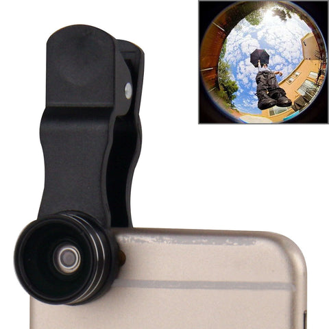 2 in 1 Universal 15X Marco Lens + 0.63X Wide Lens with Clip (Black) Lens - MEGA Discount Online Store Ghana