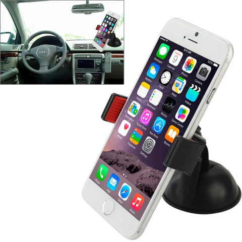 Buy Online  360 Degree Rotation Design Super Suction Cup Car Mount Holder for iPhone 6 & 6 Plus / Xiaomi / Samsung / HTC / Lenovo, Suitable for Width as 6.3cm-9cm Mobile Phone Holders - MEGA Discount Online Store Ghana
