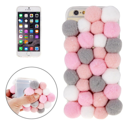 Buy Online  3D Furry Balls Pattern TPU Protective Case for iPhone 6 & 6s Apple Cases - MEGA Discount Online Store Ghana
