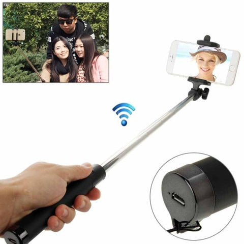 Buy Online  Adjustable Bluetooth Wireless Self-timer Handheld Monopod for Smartphones, Extended Length: 80cm, Folding Length: 17cm(Black) Selfie Tools - MEGA Discount Online Store Ghana