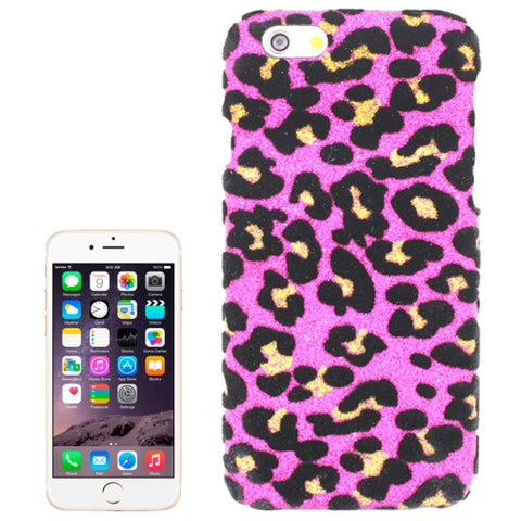 Buy Online  Leopard Texture Shimmering Powder Skinning Plastic cover for iPhone 6 Plus(Magenta) Apple Cases - MEGA Discount Online Store Ghana