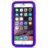 Buy Online  3 in 1 Detachable Shockproof Silicone&Plastic + Screen Protector Hard Cover with Holder for iPhone 6 Plus(Purple) Apple Cases - MEGA Discount Online Store Ghana