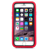 Buy Online  3 in 1 Detachable Shockproof Silicone&Plastic + Screen Protector Hard Cover with Holder for iPhone 6 Plus(Red) Apple Cases - MEGA Discount Online Store Ghana