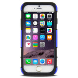 Buy Online  2 in 1 Split Sliding Silicone+Plastic Combination Cover with Holder for iPhone 6 PLus(Dark Blue) Apple Cases - MEGA Discount Online Store Ghana