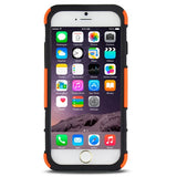 2 in 1 Split Sliding Silicone+Plastic Combination Cover with Holder for iPhone 6 PLus(Orange) Apple Cases - MEGA Discount Online Store Ghana