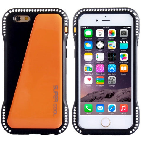 Buy Online  Shockproof Armour PC + TPU Protective Cover for iPhone 6 Plus (Black + Orange) Apple Cases - MEGA Discount Online Store Ghana