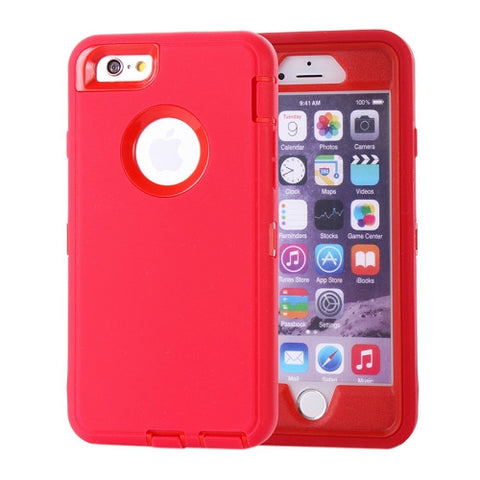Buy Online  Waterproof Dustproof Shockproof Hybrid Silicone PC Combination Cover for iPhone 6 Plus(Red) Apple Cases - MEGA Discount Online Store Ghana