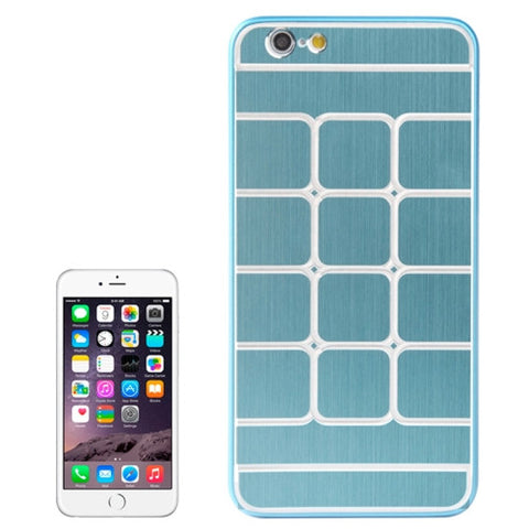 Buy Online  Brushed Texture Grids Dents Plastic Hard Cover for iPhone 6 Plus(Blue) Apple Cases - MEGA Discount Online Store Ghana