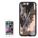Buy Online  3D Gun Pattern PU Paste Skin TPU Protective Case for iPhone 6 Plus & 6s Plus(Grey) Apple Cases - MEGA Discount Online Store Ghana