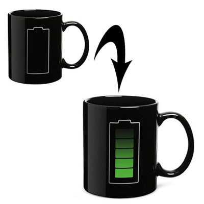 Buy Online  Heat Sensitive Battery Color Changing Porcelain Cup Coffee Mug with Handle Smokers Inn - MEGA Discount Online Store Ghana