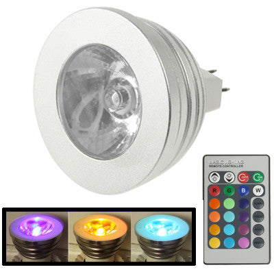 Buy Online  MR16 5W RGB LED Light Bulb with Remote Controller, Luminous Flux: 400-450lm LED & Bulbs - MEGA Discount Online Store Ghana