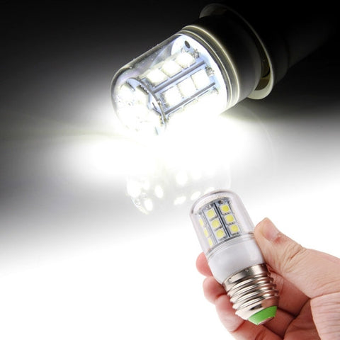 Buy Online  E27 5050 SMD 5.5W AC 220V 450LM LED Corn Light Lamp with Transparent Cover (White Light 27 LEDs) LED & Bulbs - MEGA Discount Online Store Ghana