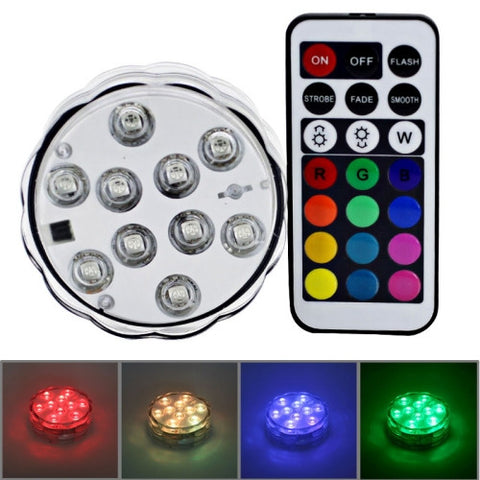Buy Online  10-LED Colorful Remote Control Decoration Diving Lamp with Remote Control(White) LED & Bulbs - MEGA Discount Online Store Ghana