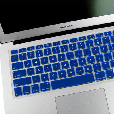 separation shoes e1423 b78df ENKAY Soft Silicone Keyboard Protector Cover Skin for MacBook Air 13.3 inch  / Macbook Pro (Blue)