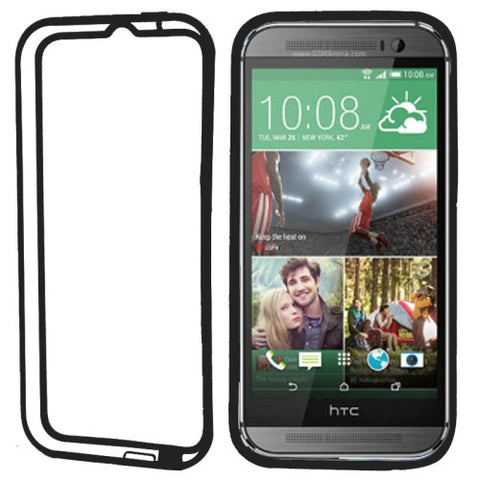 Buy Online  TPU + Transparent Plastic Bumper Frame Case for HTC One M8(Black) HTC Cases - MEGA Discount Online Store Ghana