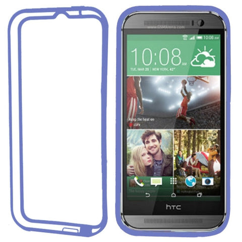 Buy Online  TPU + Transparent Plastic Bumper Frame Cover for HTC One M8(Dark Blue) HTC Cases - MEGA Discount Online Store Ghana