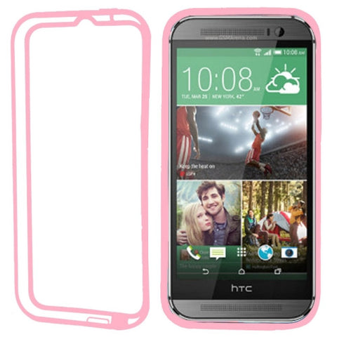 Buy Online  TPU + Transparent Plastic Bumper Frame Case for HTC One M8(Pink) HTC Cases - MEGA Discount Online Store Ghana