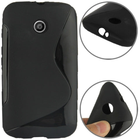 S Line Anti-skid Frosted TPU Case for Motorola Moto E / XT1021 / XT1022 / XT1025 (Black) Motorola Cases - MEGA Discount Online Store Ghana