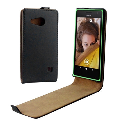 Buy Online  Vertical Flip Magnetic Button Leather Case for Nokia Lumia 730 Nokia Cases - MEGA Discount Online Store Ghana