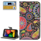 Buy Online  Cartoon Multicolor Pattern Button Flip Leather Case with Card Slots & Holder for Motorola Moto E / XT1021 Motorola Cases - MEGA Discount Online Store Ghana