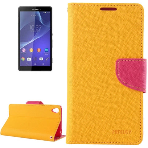 Buy Online  Cross Texture Leather Cover with Holder & Card Slots & Wallet for Sony Xperia Z3(Orange) Sony Cases - MEGA Discount Online Store Ghana