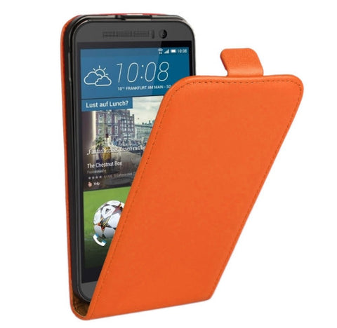 Buy Online  Vertical Flip Genuine Split Leather Case for HTC One M9(Orange) HTC Cases - MEGA Discount Online Store Ghana