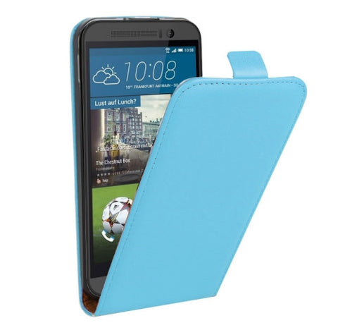 Buy Online  Vertical Flip Genuine Split Leather Cover for HTC One M9(Blue) HTC Covers - MEGA Discount Online Store Ghana