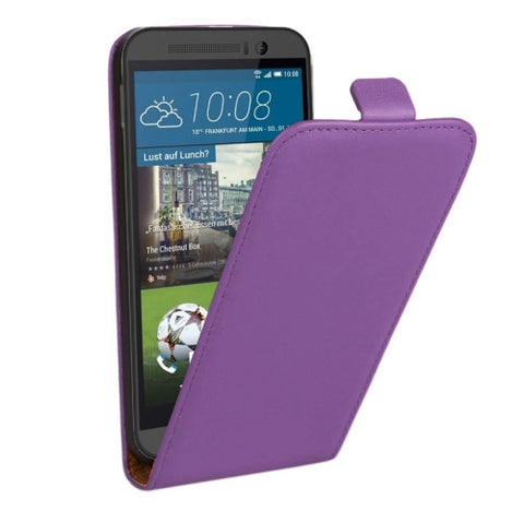 Buy Online  Vertical Flip Genuine Split Leather Case for HTC One M9(Purple) HTC Cases - MEGA Discount Online Store Ghana