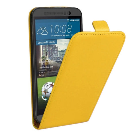 Buy Online  Vertical Flip Genuine Split Leather Cover for HTC One M9(Yellow) HTC Covers - MEGA Discount Online Store Ghana