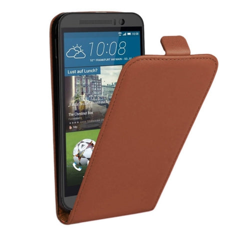 Buy Online  Vertical Flip Genuine Split Leather Cover for HTC One M9(Brown) HTC Covers - MEGA Discount Online Store Ghana