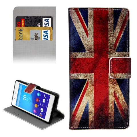 Buy Online  Plain Weave Horizontal Flip Retro UK Flag Pattern Leather Cover with Holder & Card Slots & Wallet for Sony Xperia Z4 Sony Cases - MEGA Discount Online Store Ghana