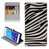 Buy Online  Plain Weave Horizontal Flip Zebra Pattern Leather Cover with Holder & Card Slots & Wallet for Sony Xperia Z4 Sony Cases - MEGA Discount Online Store Ghana
