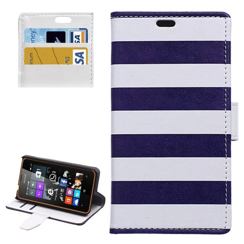 Buy Online  Stripe Pattern Horizontal Flip Magnetic Buckle Leather Case with Card Slots & Wallet & Holder for Microsoft Lumia 430 Microsoft Cases - MEGA Discount Online Store Ghana