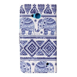 Buy Online  Elephant Pattern Leather Case with Holder & Card Slot & Wallet for MicroSoft Lumia 640 Microsoft Cases - MEGA Discount Online Store Ghana