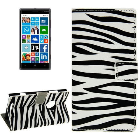 Buy Online  Zebra-stripe Pattern Horizontal Flip Magnetic Buckle Leather Case with Card Slots Nokia Cases - MEGA Discount Online Store Ghana