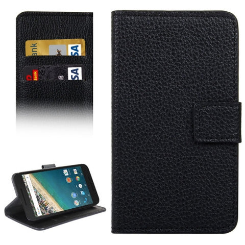 Buy Online  Litchi Texture Horizontal Flip Leather Case with Holder & Card Slots & Wallet for Google Nexus 5X(Black) LG Cases - MEGA Discount Online Store Ghana