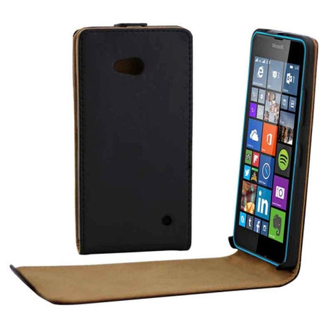 Buy Online  Vertical Flip Magnetic Button Leather Case for Microsoft Lumia 640(Black) Microsoft Cases - MEGA Discount Online Store Ghana