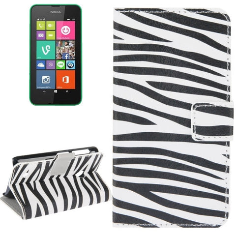Buy Online  Zebra Pattern Leather Case with Holder & Card Slots & Wallet for Nokia Lumia 530 Nokia Cases - MEGA Discount Online Store Ghana