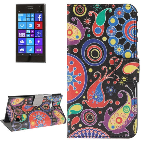 Buy Online  Abstract Pattern Leather Case with Holder & Card Slots & Wallet for Nokia Lumia 730 Nokia Cases - MEGA Discount Online Store Ghana